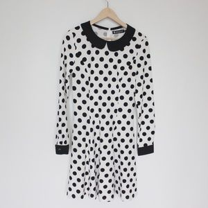 Black and white polka dot dress Medium